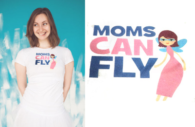 Футболка Vmeste moms can fly