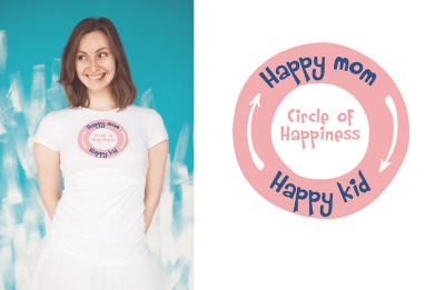 Футболка Vmeste happy mom - happy kid